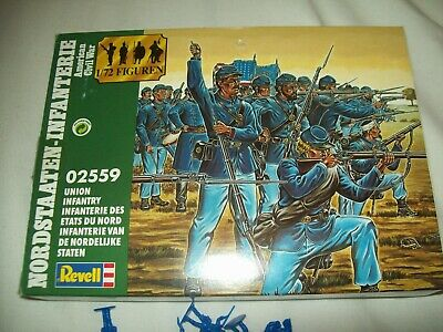 Union Infantry, American Civil War, 1/72 Scale Toy Soldiers By Revell • 8.50£