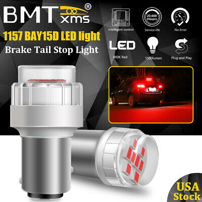 $11.75 • Buy LED Red Tail Brake Stop Lights 1157 7528 2357 2057 12499 Error Free Canbus