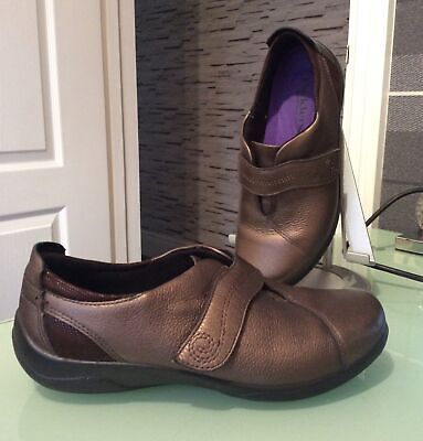 Padders JAZZ Bronze Leather Shoes UK Size 4 Extra Wide Fit Worn Once Immaculate • 9£