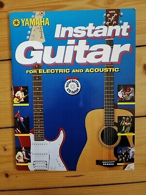 Yamaha Instant Guitar For Electric And Acoustic Book With CD Vgc • 1.99£