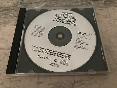 PRINCE AND THE N.P.G DIAMONDS AND PEARLS X 2 VERSIONS-PROMO CD 1991 PAISLEY PARK • 3£