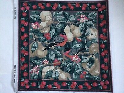 Ehrman Tapestry MARGARET MURTON BULLFINCHES TEMPTATION Cushion Front Completed • 155£