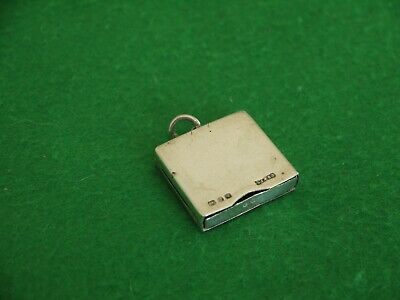 Unusual Antique Victorian Sterling Silver Hm 1898 Drawer Style Stamp Case   • 14.99£