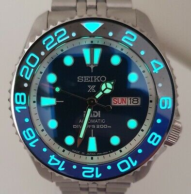 $ CDN759.69 • Buy SEIKO SKX007 Mod  Batman Lumed  Mod NH36A Jubilee Bracelet New Condition