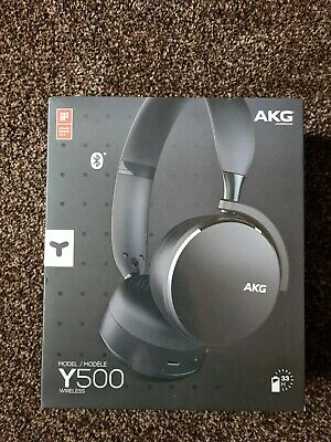 AKG Y500 On The Ear Wireless Headphones - New And Boxed - Black • 24£