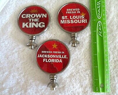 $ CDN13.05 • Buy Lot Of 3 Brand New Budweiser Beer 2 Sided Tap Handle Toppers