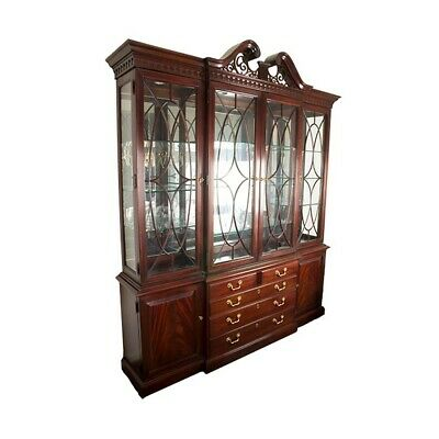 $800 • Buy Classic Thomasville Mahogany Chippendale Breakfront - Excellent Condition