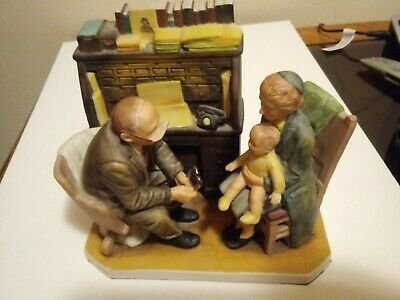 $ CDN25.95 • Buy 1980 Vintage Norman Rockwell's  1947 FIRST ANNUAL VISIT  Figurine Gorham Doctor