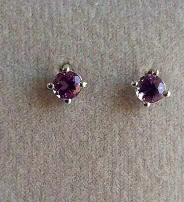 Kenyan Amethyst Sterling Silver Earrings By Gemporia + Authenticity Card • 8.50£