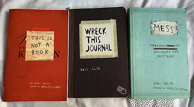 This Is Not A Book, Wreck This Journal, Mess - Keri Smith Book Bundle • 6£