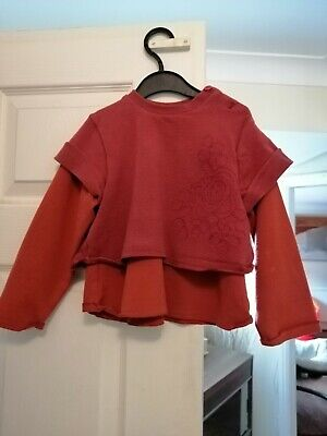 Girls MARESE Long Sleeve Top 2-3 Years 2A 86cm • 1.99£