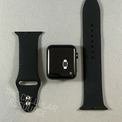 $ CDN260.50 • Buy Apple Watch Series 3 42mm Space Gray Aluminum Case Black Sport Band Cellular