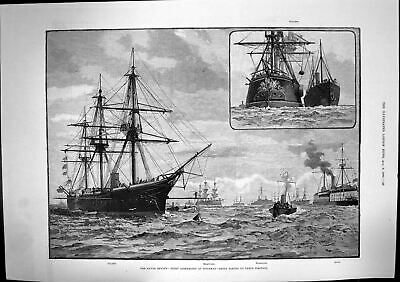 Old Naval Review Fleet Assembling Spithead Taking Position Coaling 18 Victorian • 23£