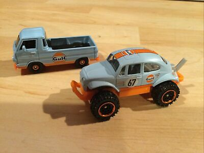 Matchbox Gulf Beetle 4x4 & Dodge A100 Pickup • 4£