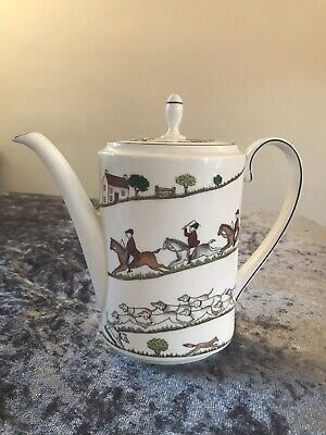 Rare Unused Coalport Hunting Scene Large Coffee Pot Fine Bone China  • 150£