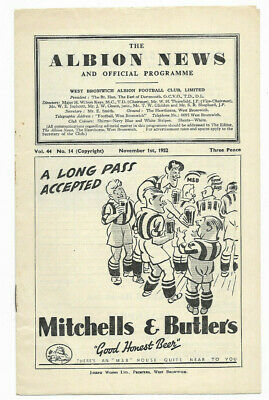 1952/53 Division 1 - WEST BROMWICH ALBION V. ARSENAL • 4.99£