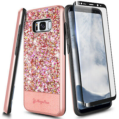 $ CDN13.05 • Buy For Samsung Galaxy S8/ S8 Plus Case Glitter Bling Phone Cover +Screen Protector