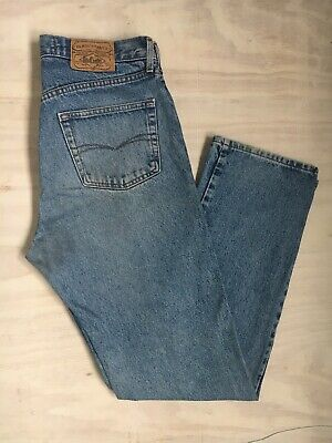 Lee Cooper Stone Washed Blue Denim Late 90's Jeans, Straight Leg, Zip Fly, 33/32 • 10£