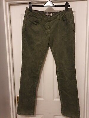Size 14 Green Cord Straight Leg Jeans From Fatface  • 8.48£