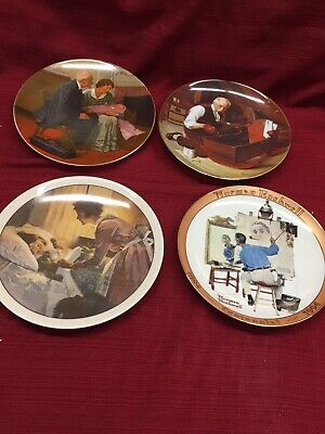 $ CDN23.34 • Buy Norman Rockwell Mixed Lot Plates Great Shape Good Deal!! Look