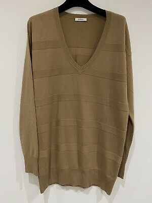 N Peal £395 Camel Medium 100% Cashmere Knit Jumper • 160£
