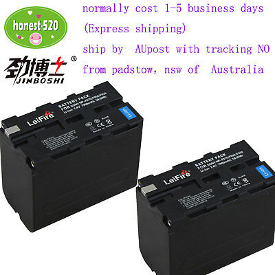AU59.92 • Buy 2 Pcs NP-F970 Camcorder Battery For SONY NP-F750  F960 F950 F930 F770 F570 BY AU