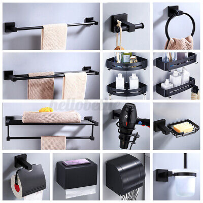 AU26.40 • Buy Bathroom Towel Rack Rail Storage Shelf Stand Soap Dish Toilet Paper Brush Holder