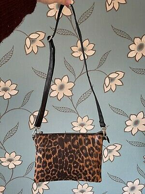 Small Smart Leopard Print Ladies Bag Marks And Spencers. • 2.20£