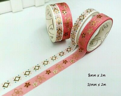AU2.20 • Buy Washi Tape Gold Foil Sakura 2 Rolls Set MT488