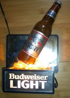 $ CDN23.56 • Buy Budweiser Light Sign W/Bottle On Ice Lighted 12 1/2  H X 7 1/4  W X 3 1/2  D