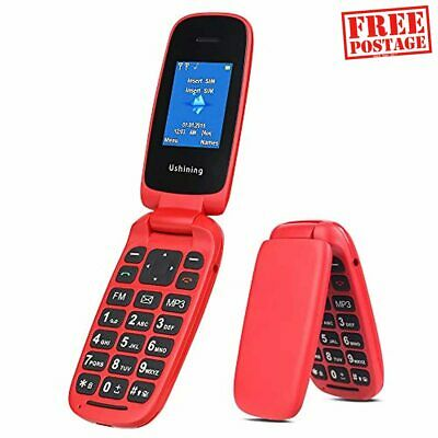 GSM Flip Mobile Phones For Elderly,Sim Free Mobile Phones Unlocked,Pay As You Go • 30.91£