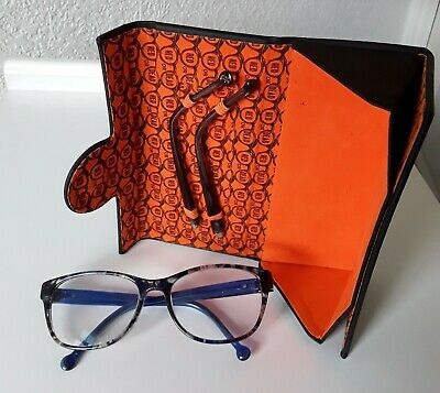 Ladies Designer Red Or Dead Tortoiseshell Glasses, Spare Arms + Fold Flat Case. • 6£