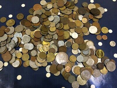 Nice Old Job Lot British & Foreign Coins Some Tokens Maybe Medals Approx 1.8Kg • 6.05£