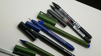 Lot Of 6 WH SMITH CALLIGRAPHY Italic Pen M/ Rotring /Berol/ Zig Drawing Pen • 5£