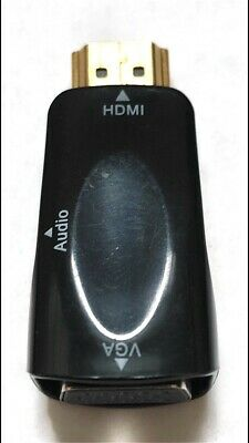 HDMI Male To VGA Female With 3.5mm Audio Output And 35cm Male To Male Cable • 2.99£
