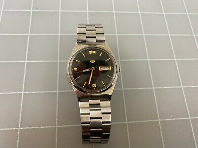$ CDN14.33 • Buy Vintage Seiko 5 Automatic Day Date 6309-8940 Stainless Steel Men's Watch RUNS