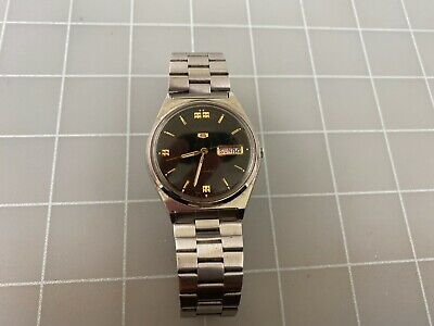 $ CDN21.51 • Buy Vintage Seiko 5 Automatic Day Date 6309-8940 Stainless Steel Men's Watch RUNS
