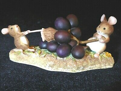 Boarder Fine Arts Figurine Merry Mice - Fruit Fun   The Grape Escape   A1631 • 20£