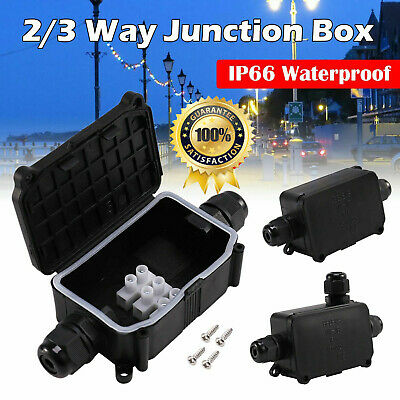Waterproof Junction Box Electrical Cable Connector Outdoor IP66 Underground New • 5.99£