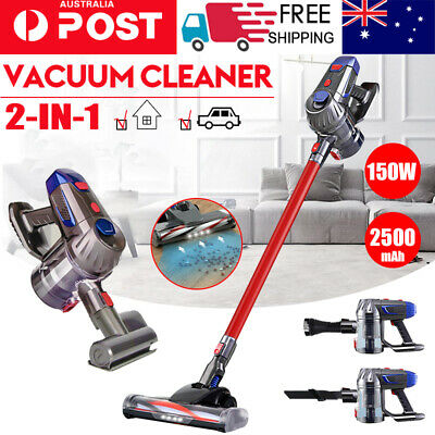 AU108 • Buy Handheld Vacuum Cleaner Cordless Bagless Stick Handstick Vac Recharge 150W RED
