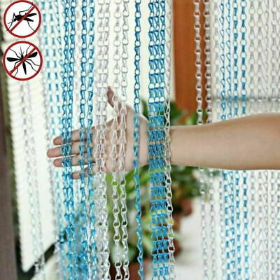 Aluminium Metal Chain Strip Curtain Fly Pest Insect Door Blinds Screen Control • 35.99£