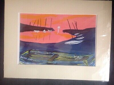 Peter Scott Hand Painted Signed Original Bespoke Wells Next The Sea North Norfol • 10£