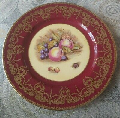 Aynsley Glided Orchard Fruits Cabinate Plate.  Fine Bone China • 10£