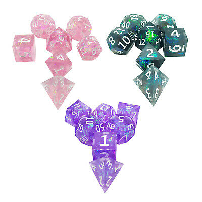 AU22.57 • Buy 7 Pieces Resin Dnd Dice Set Polyhedral Dice For DND, MTG, RPG, Role Play Game