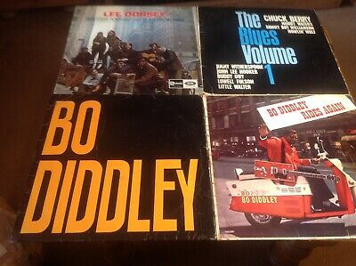 LP Records.Job Lot.4 Records. Bo Diddley. Rides Again. Lee Dorsey. Various Blues • 3.71£
