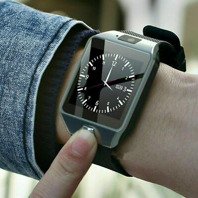 AU21.79 • Buy Smart Wrist Watch SIM Phone Watch Bluetooth Camera For Samsung Android IPhone AU