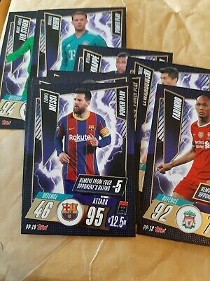 Lionel Messi Match Attax Power Play Card 20 21 Rare • 11.99£