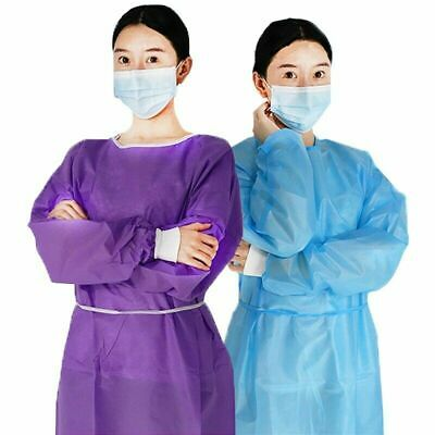 Disposable Isolation Gown Protective Overalls Suit Workwear Hospital Uniform • 23.45£