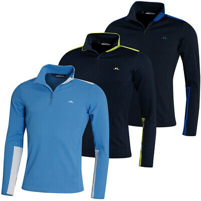J. Lindeberg Mens 2020 Garry Moisture Wicking Stretch 1/4 Zip Sweater 45% OFF • 59.99£