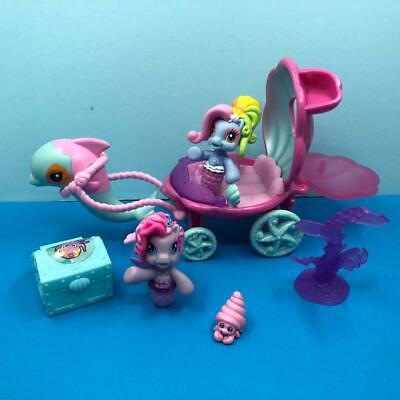 My Little Pony G3 Ponyville Mermaid Dolphin Carriage Playset Figures Bundle • 19.99£